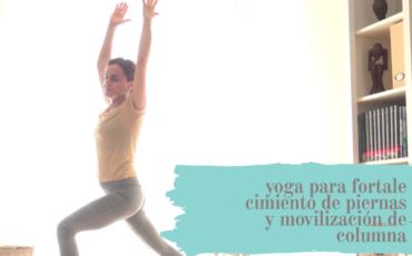 yoga para fortalecimiento de piernas