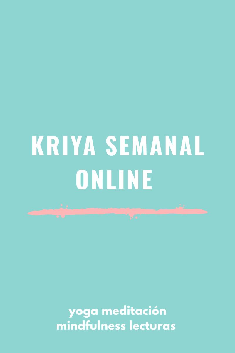 kriya semanal online