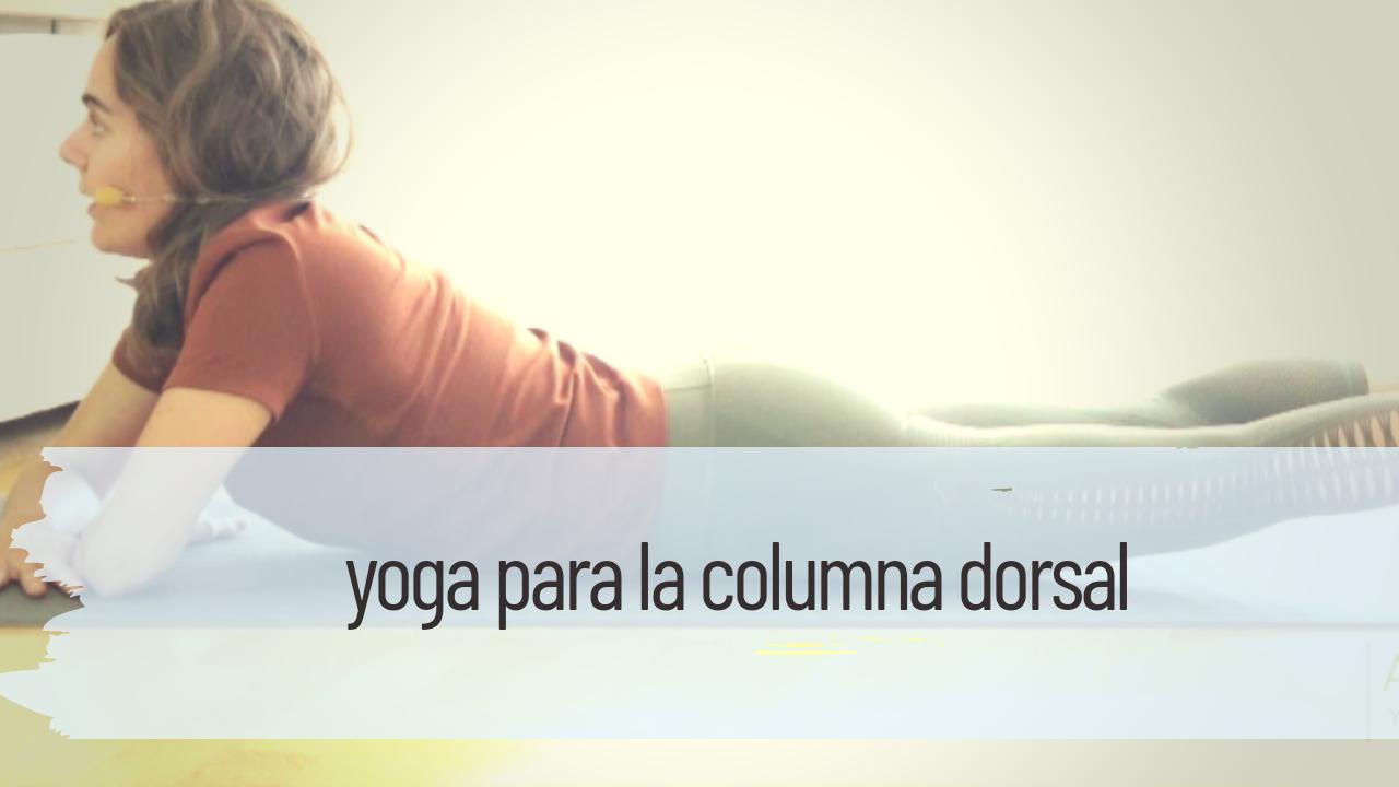 yoga para la columna dorsal