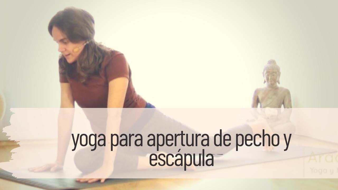 yoga para apertura de pecho y escápula