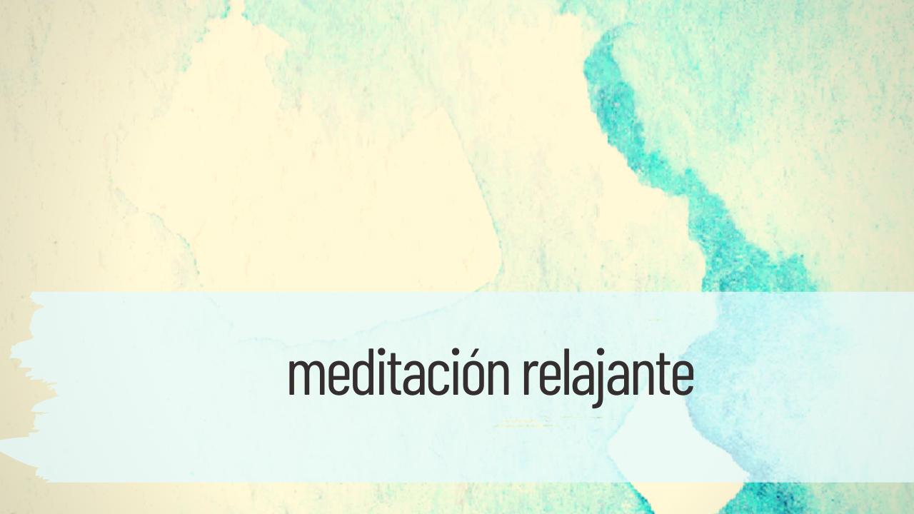 meditación relajante