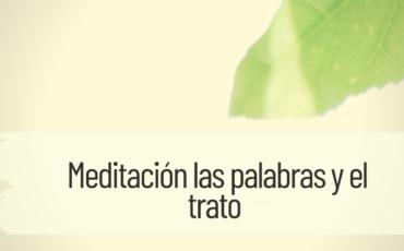meditación las palabras y el trato